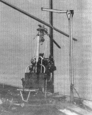 Gyrocopter rotorblade hoist system