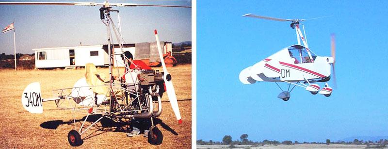 JT-9 autogyro flying