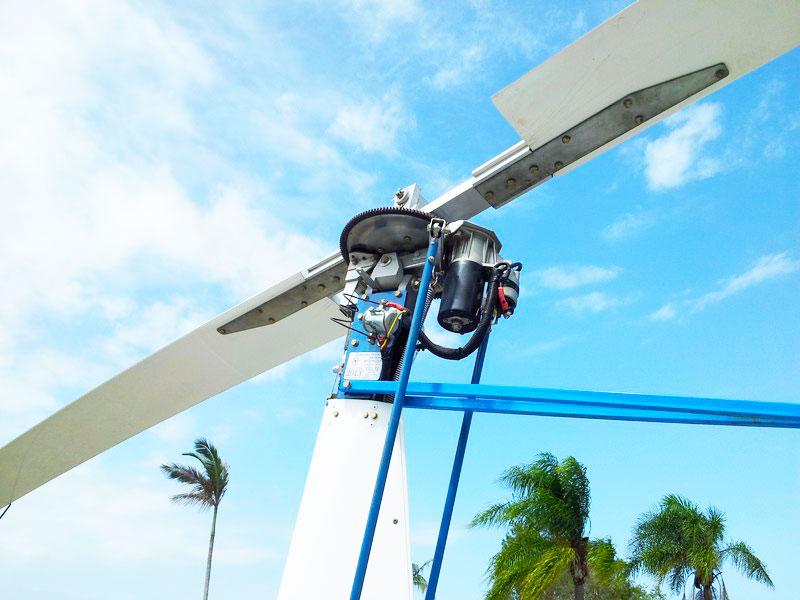 Mast mount electric pre-rotator