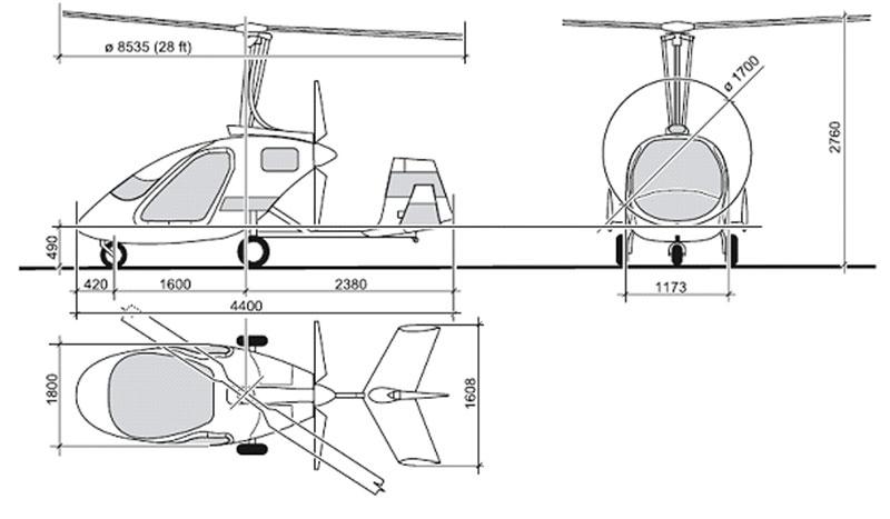 Popular two seat autogyros