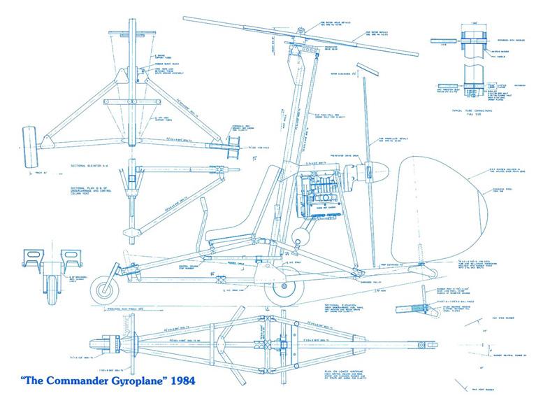 commander gyroplane plans 1984