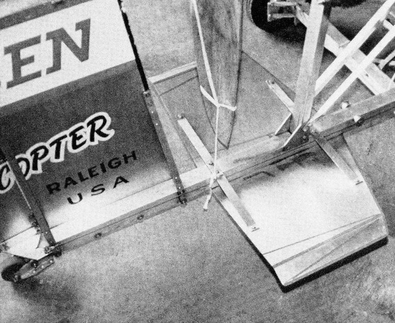 Bensen gyrocopter vertical stabilizer