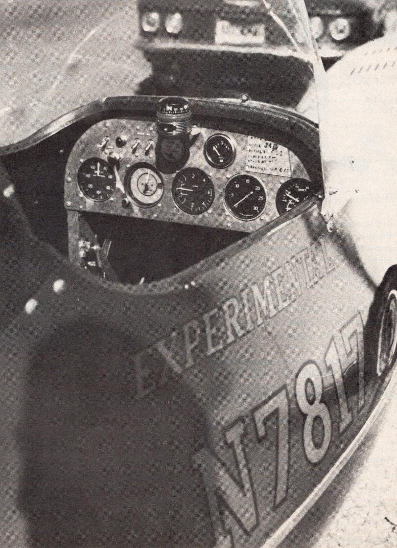 J 4B gyrocopter cockpit