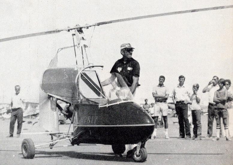 Jerrie Barnett with JB gyroplane