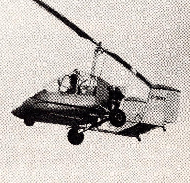 original glanville ga 2c skymaster gyroplane