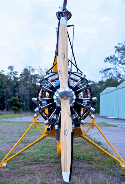 radial engine tractor gyrocopter gyroplane