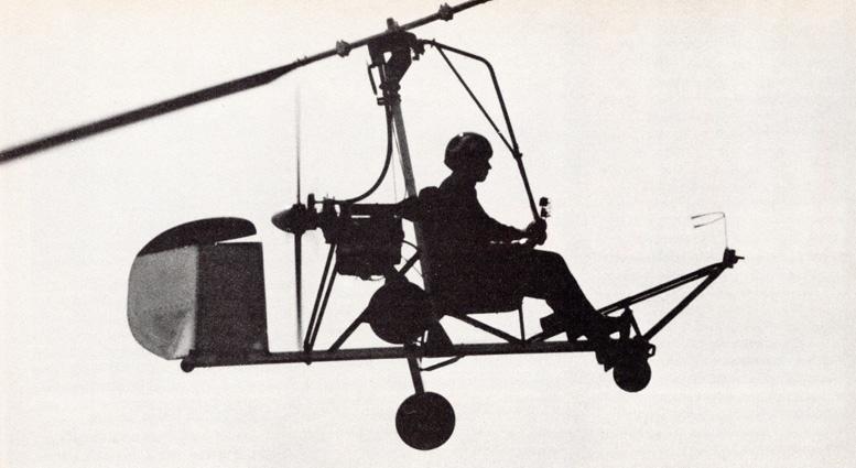 silhouette bensen gyrocopter