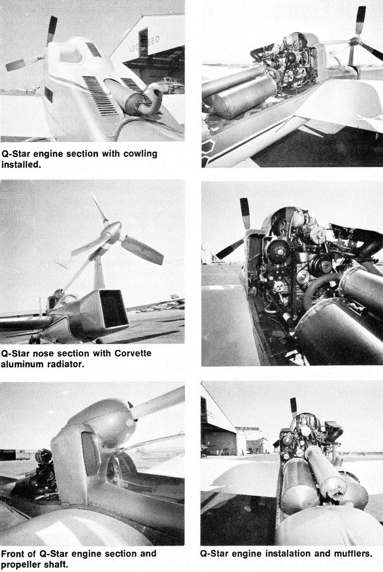 Q-star rotary engine installation