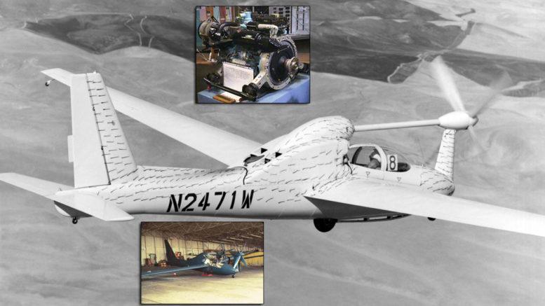 Wankel engine 5DRS1 18 PB1 QT-2 Test Flight