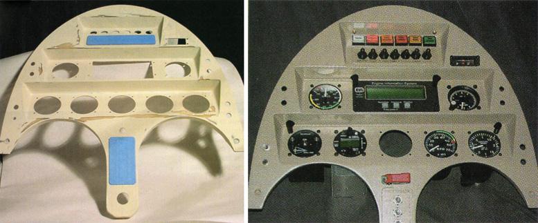 custom gyrocopter control panel