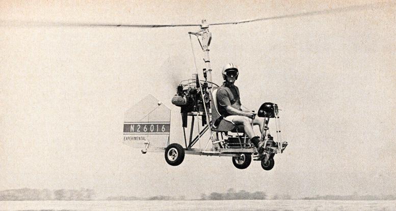 flying bensen gyrocopter