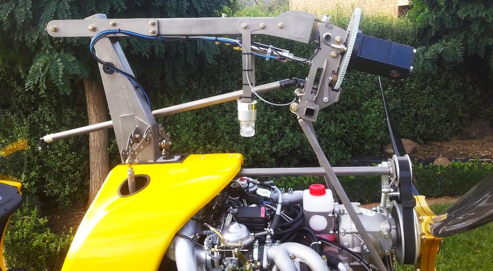 folding mast gyrocopter