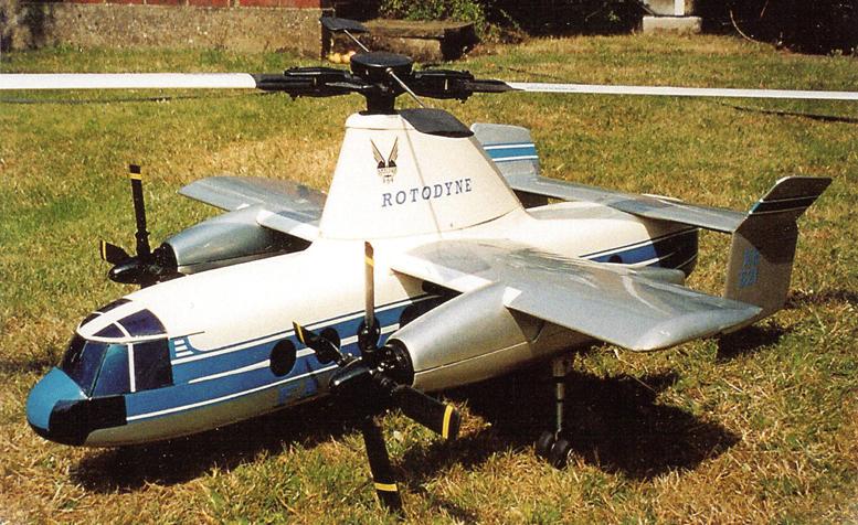 fairey rotordyne rc model gyroplane